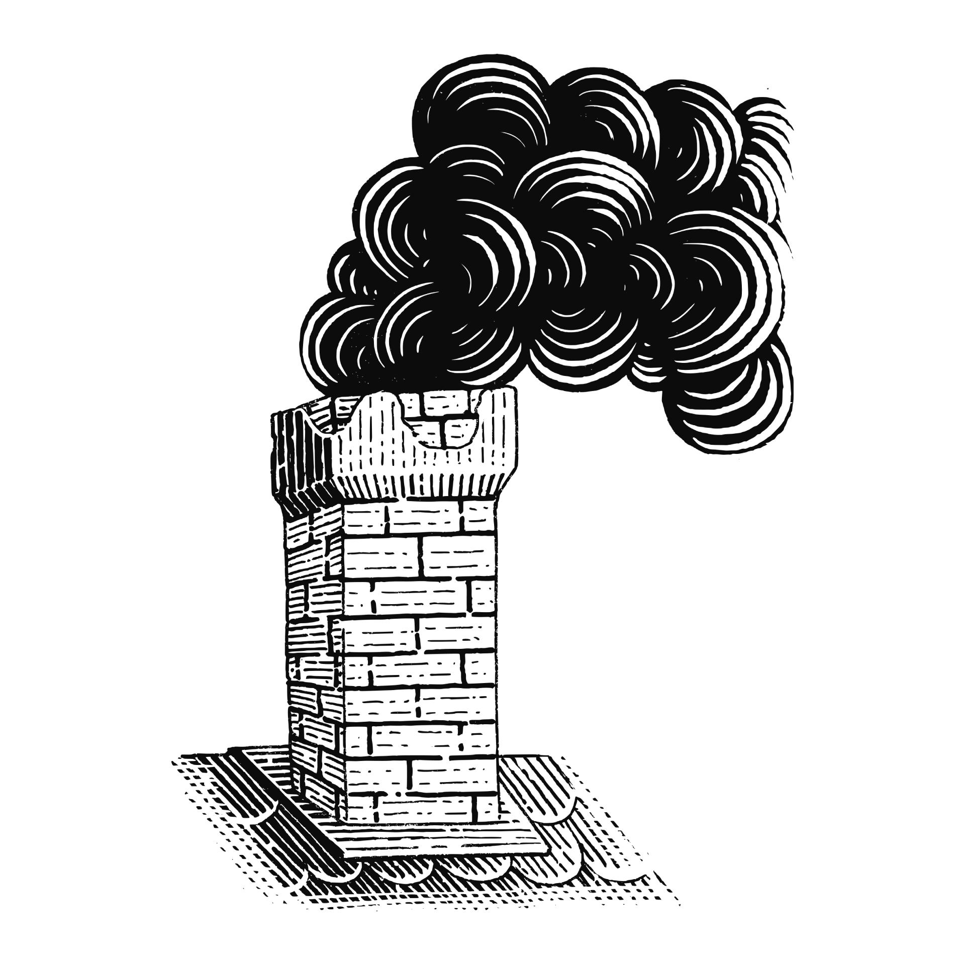 Clipart kouřící komín