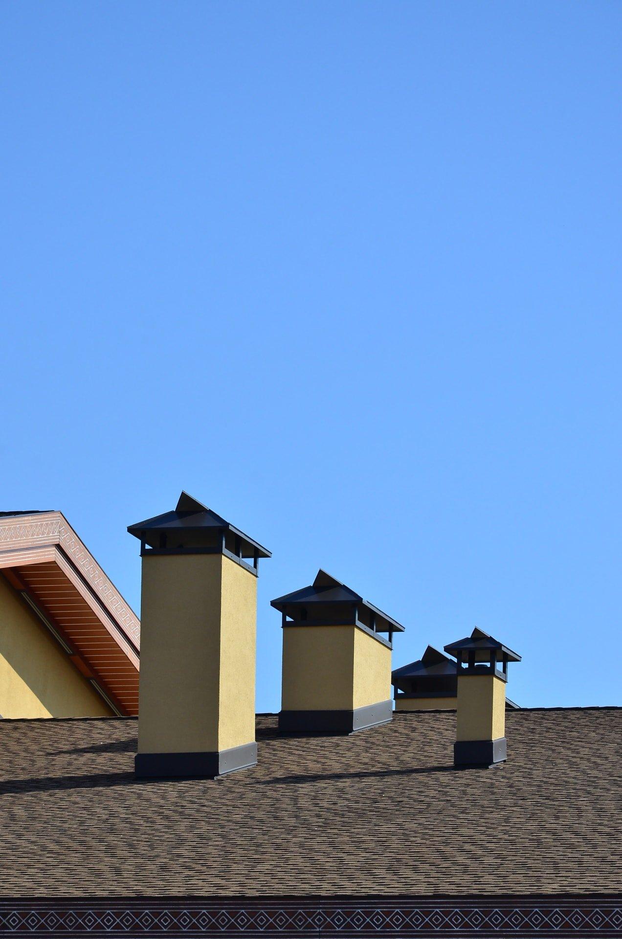 Střecha komíny